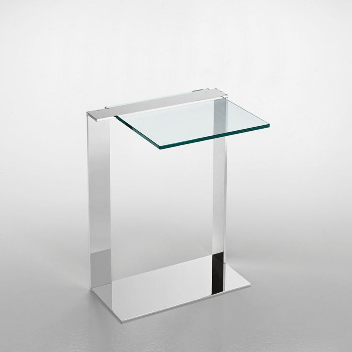 Joliet glass table by tonelli
