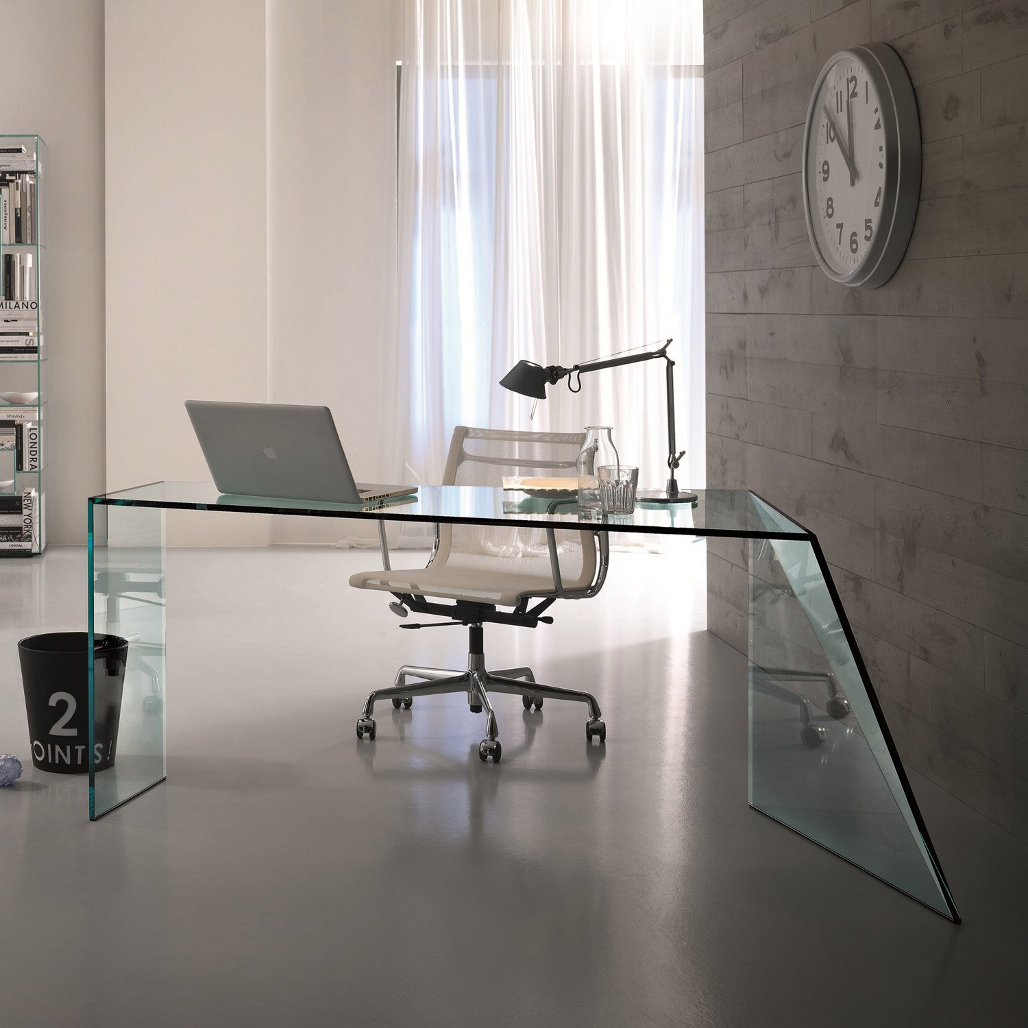 Penrose glass table by tonelli