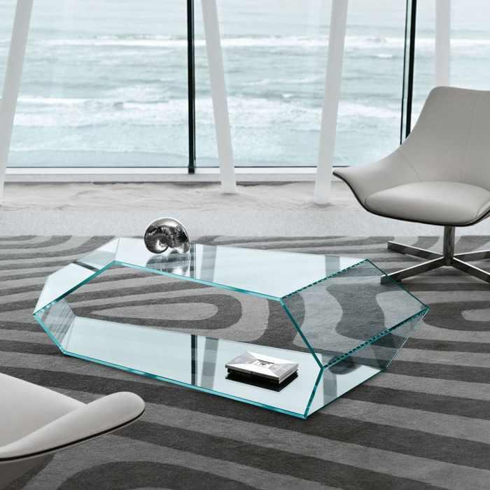 Dekon Glass Coffee table by Tonelli
