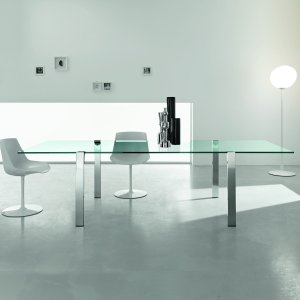 livingstone glass and metal dining table tonelli