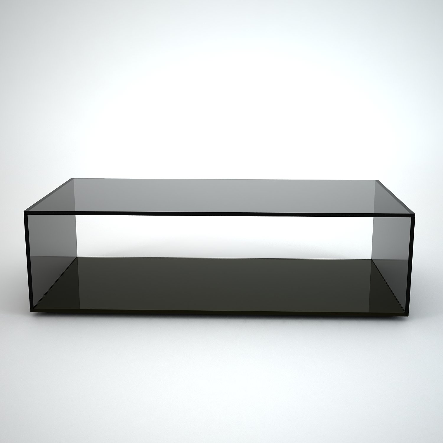quebec black glass coffee table