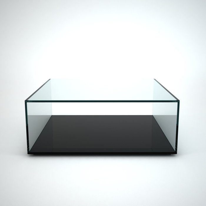 quebec glass coffee table