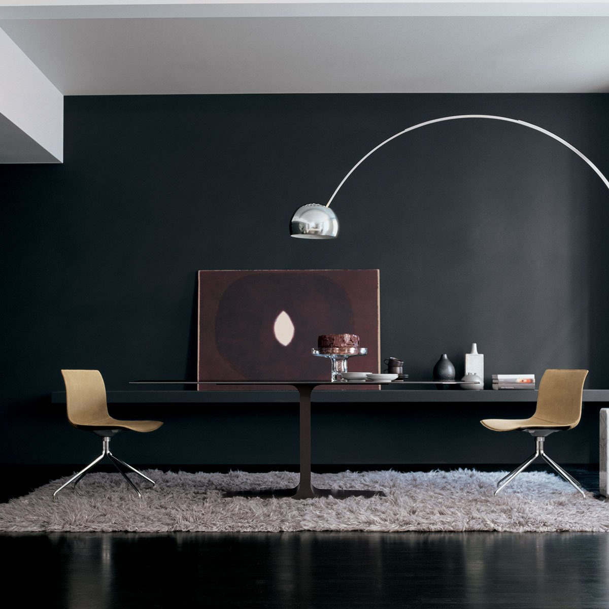 Palace Glass Dining Table With Central Base By Sovet