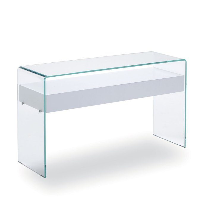 Hall Glass console table with drawer sovet