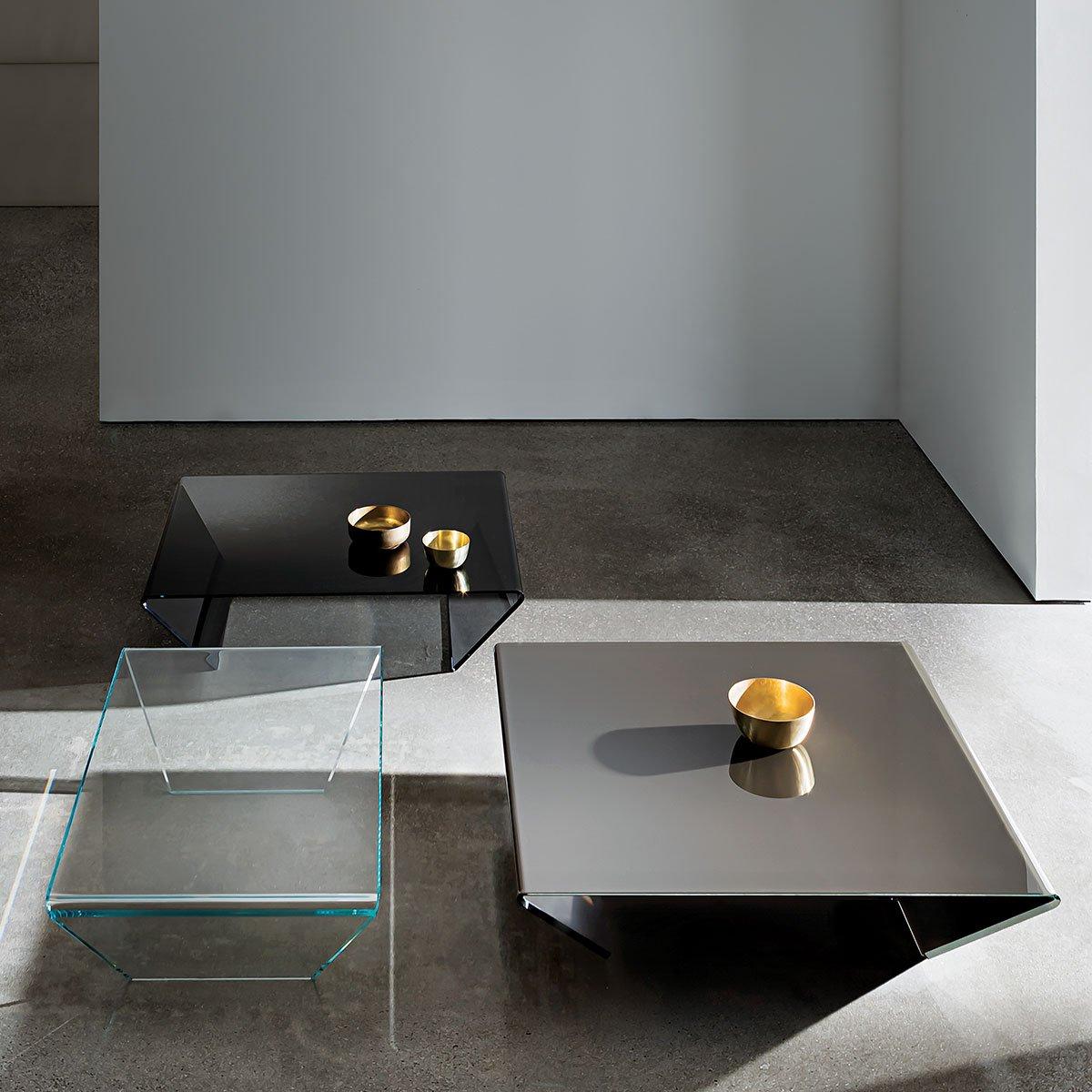 rubino curved glass coffee table
