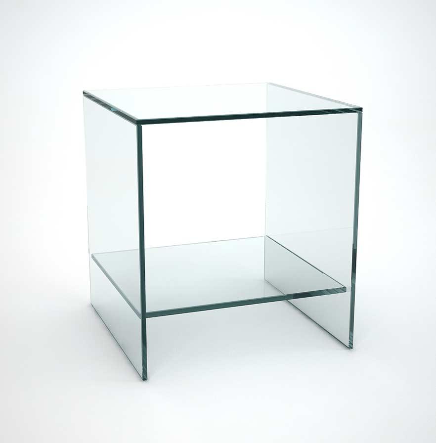 glass sofa side table