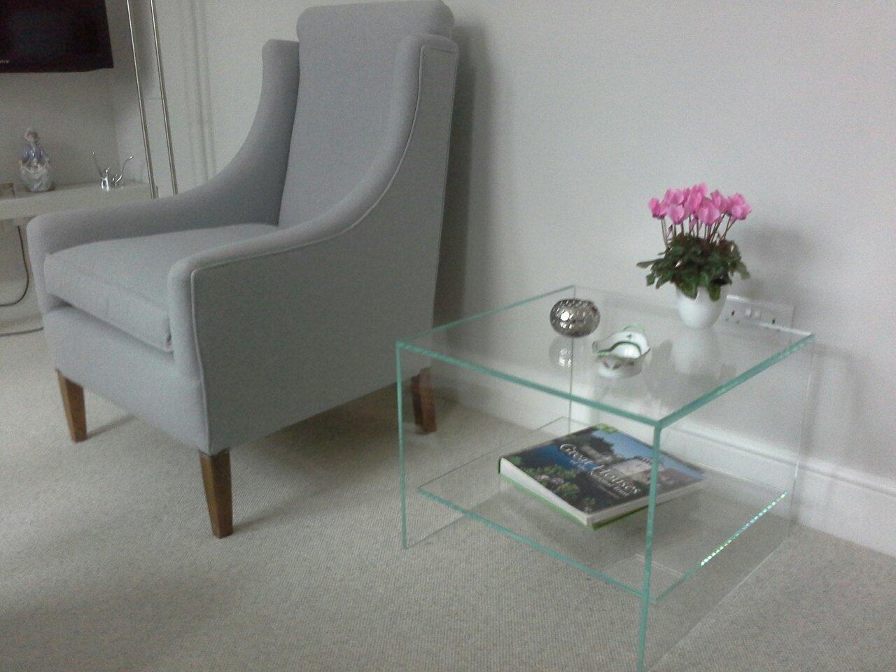 Judd glass side table