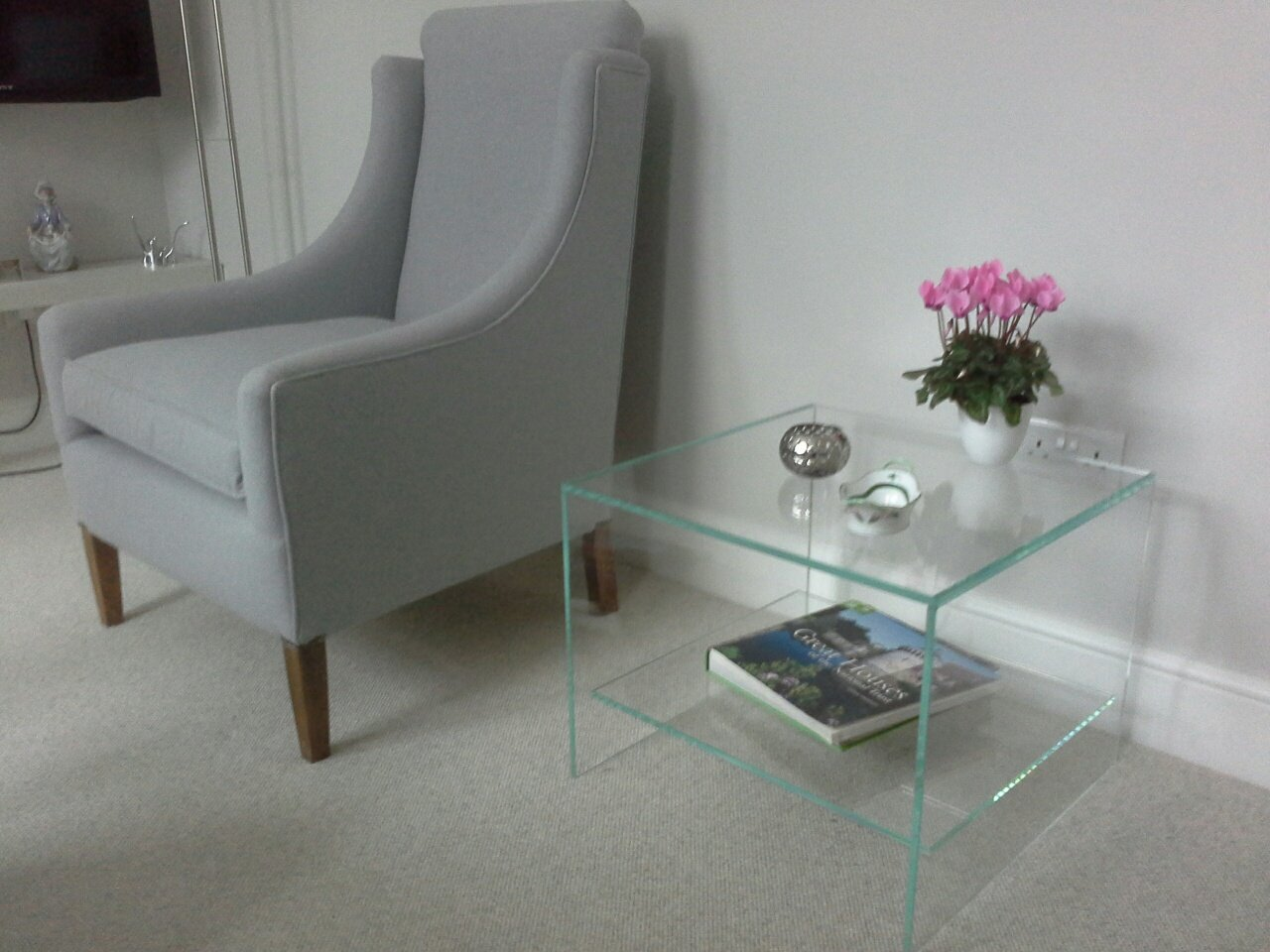Judd glass side table