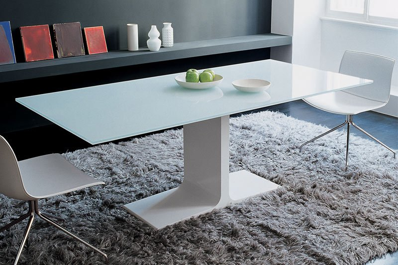 white glass dining tables