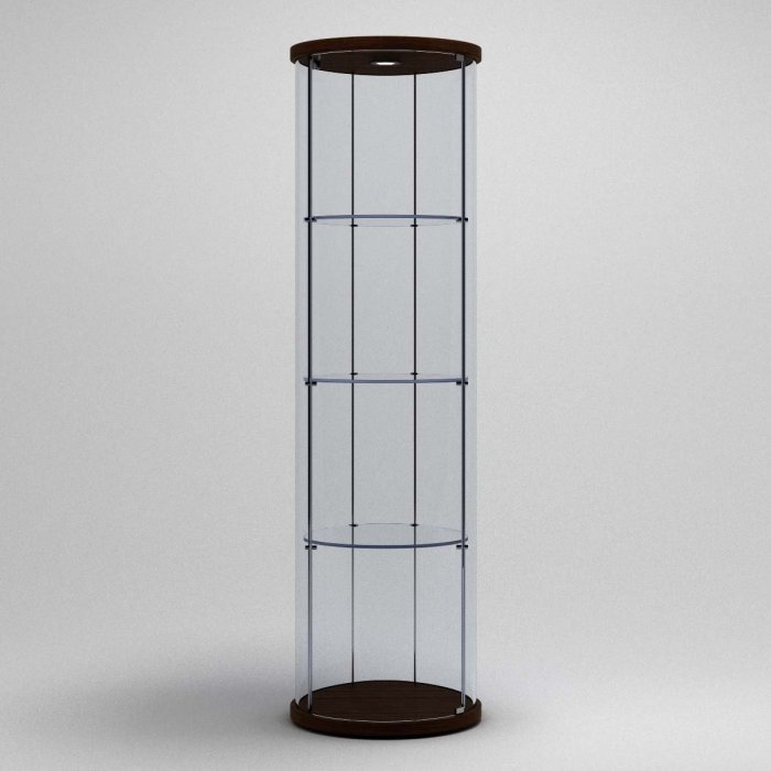 modern glass display unit.