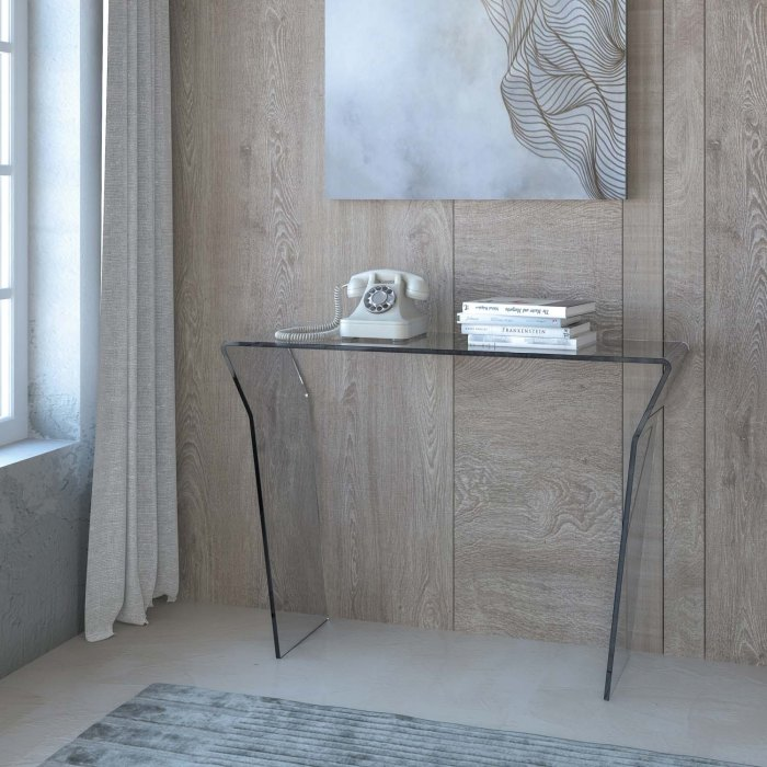 Contemporary Glass Console Table - Seven