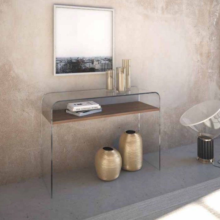 Clear Glass Console Table