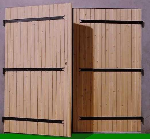 Portails et garage glassgow for Porte 2 vantaux bois