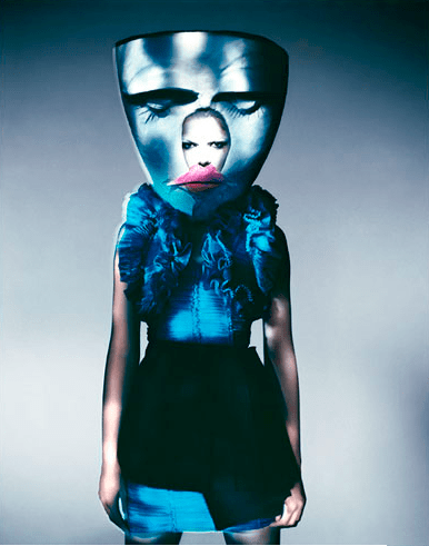 Blue Mask, Paris, 2007, by Paolo Roversi
