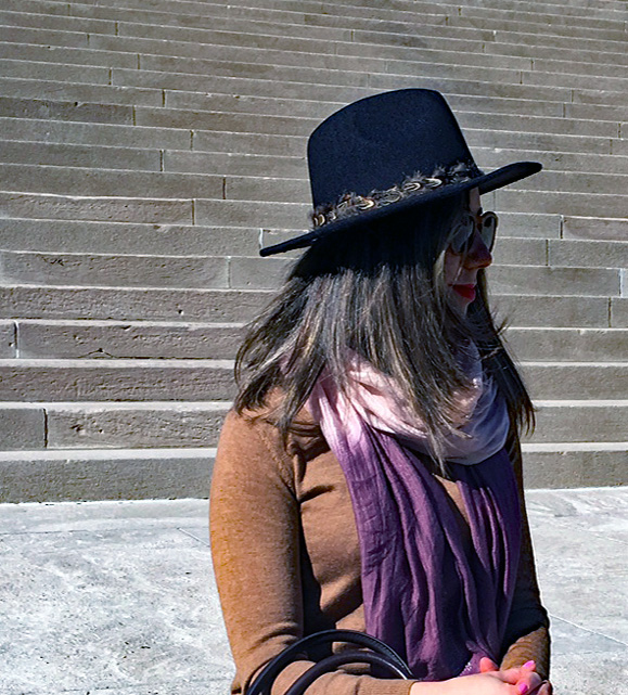 Glass of Glam - feathered felted fedora