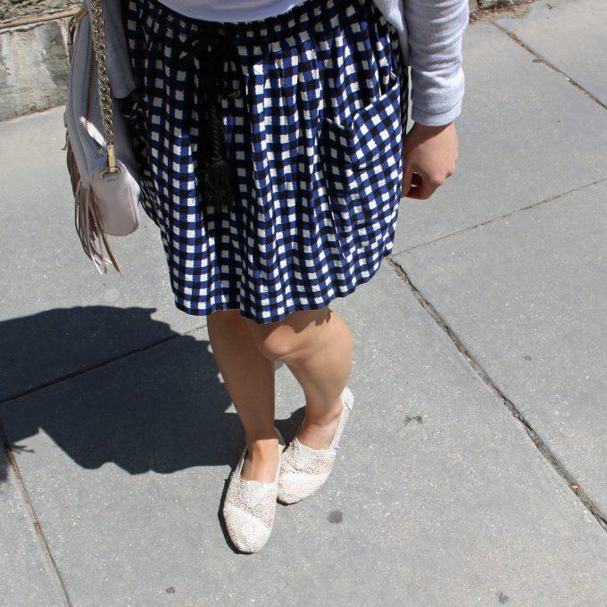 Gingham skirt | Glass of Glam
