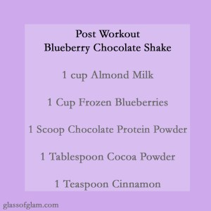Blueberry Chocolate Shake | Glass of Glam