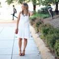 Eyelet Little White Dress & Thursday Moda Link-Up via GlassofGlam.com