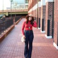 lifestyle blogger Roxanne of Glass of Glam wearing ModCloth Flares