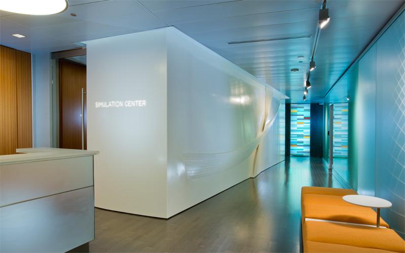 Modern Art Glass Mayo Clinic Simulation Center