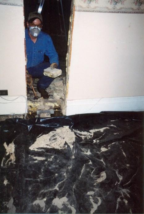 Gary, removing the chimney