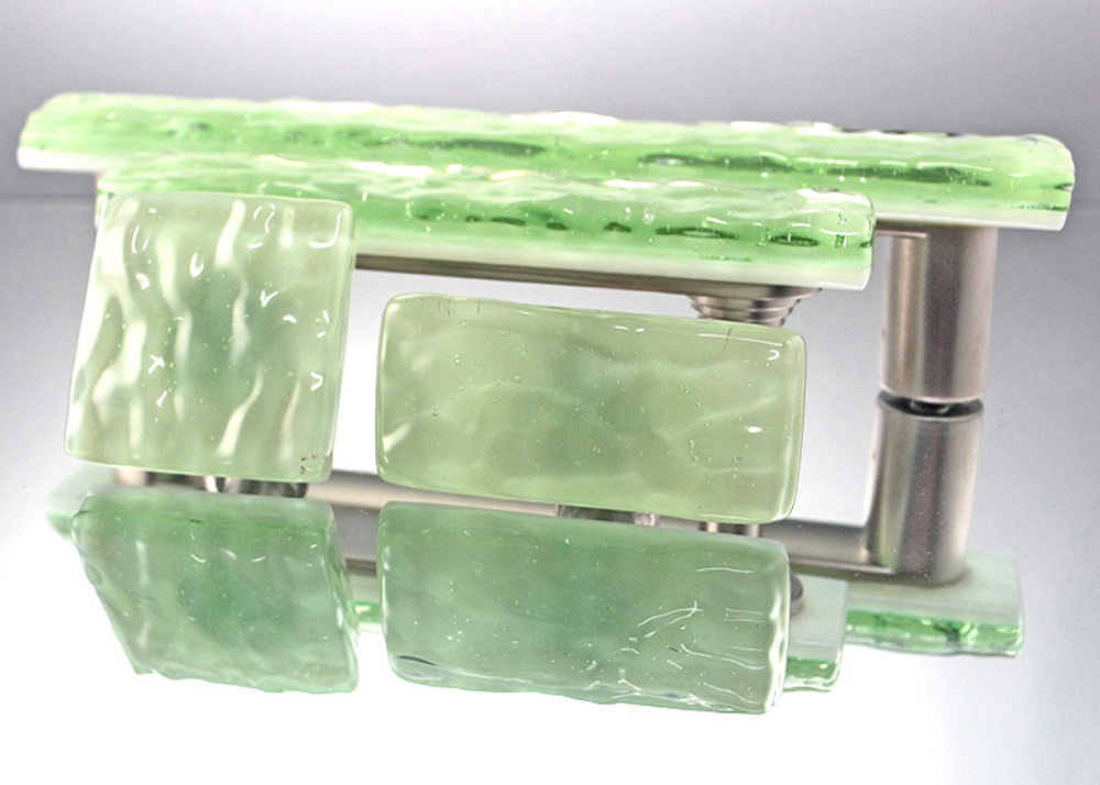 Green Mist Handmade Glass Cabinet Hardware