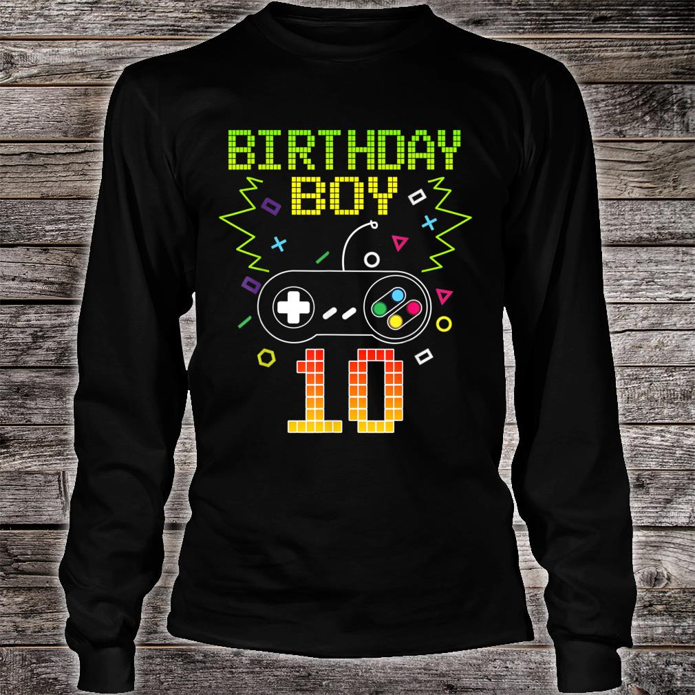 Official Birthday Boy 10 Video Game Controller Gamer 10th Birthday Shirt Hoodie Tank Top And Sweater
