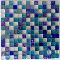 Reflections Blend Aqua Blues And  White 1X1 1