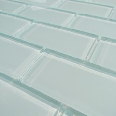 Arctic Ice 2 X 4 Crystal Glass Tile Brick Pattern 1