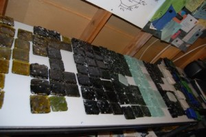 Recycled Glass Tile testing