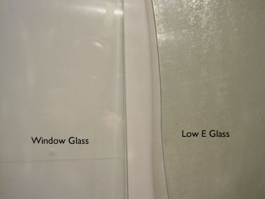 Plain glass and Low E Glass