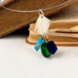 Recycled Bottle Glass Pendant