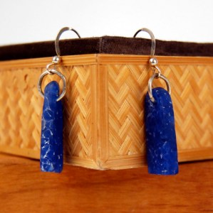 Cast Recycled Glass Earrings