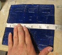 Measuring Fused Blue glass bottle