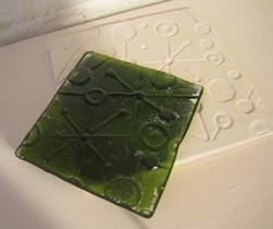 Green Recycled Bottle Glass Tile