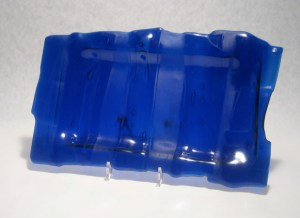 Recycled Blue Bottle Glass Plate
