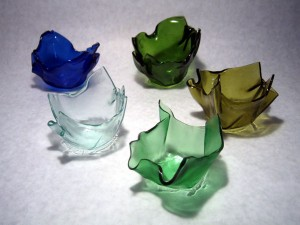 Recycled Wine Bottle Votives