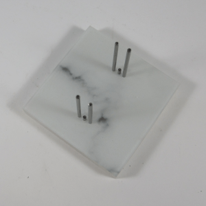 Marble print glass stand