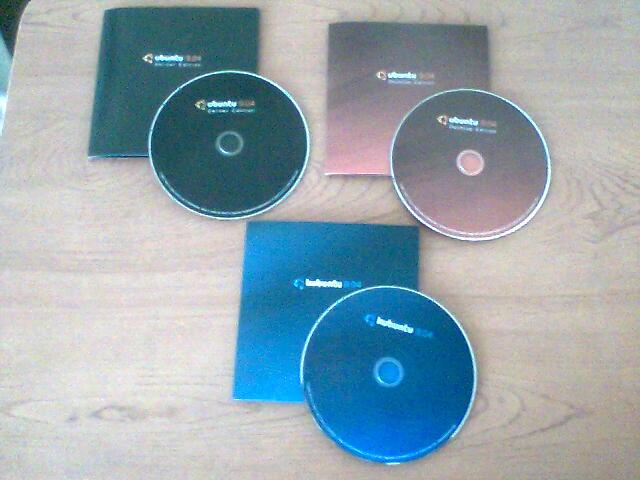 Llegaron los discos de Ubuntu Jaunty!