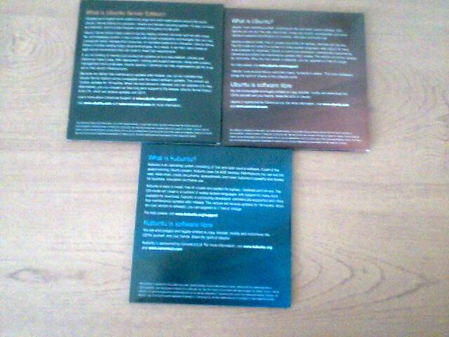 CDs Ubuntu Jaunty (back)