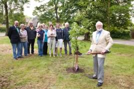 Dr. Brian Hackman - Chairman of Parish Council - Tree Planting 2012