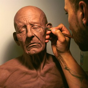 Life size Old man Head study