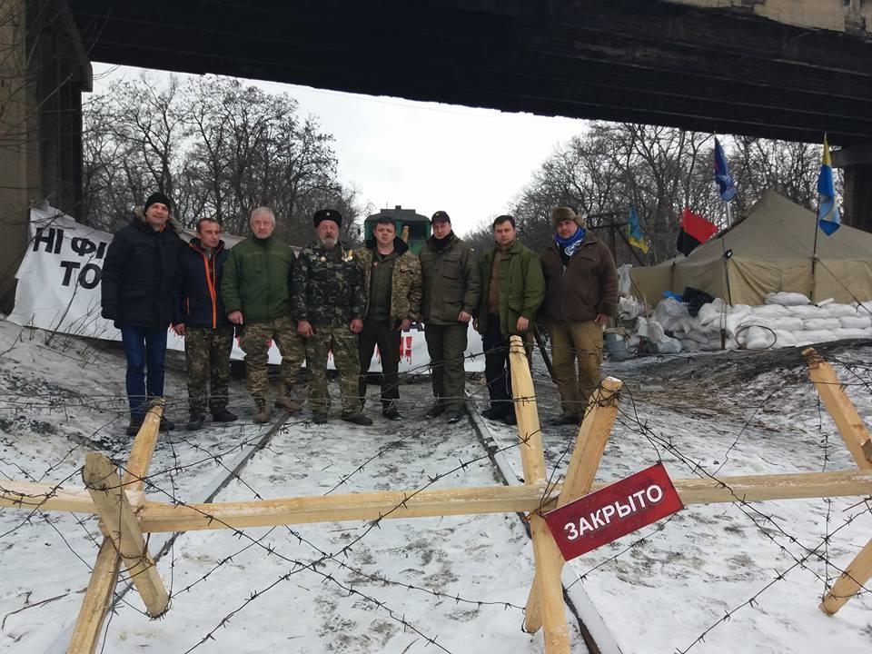 Семен Семенченко з учасниками блокади Донбасу (фото: Facebook Семена Семенченко)