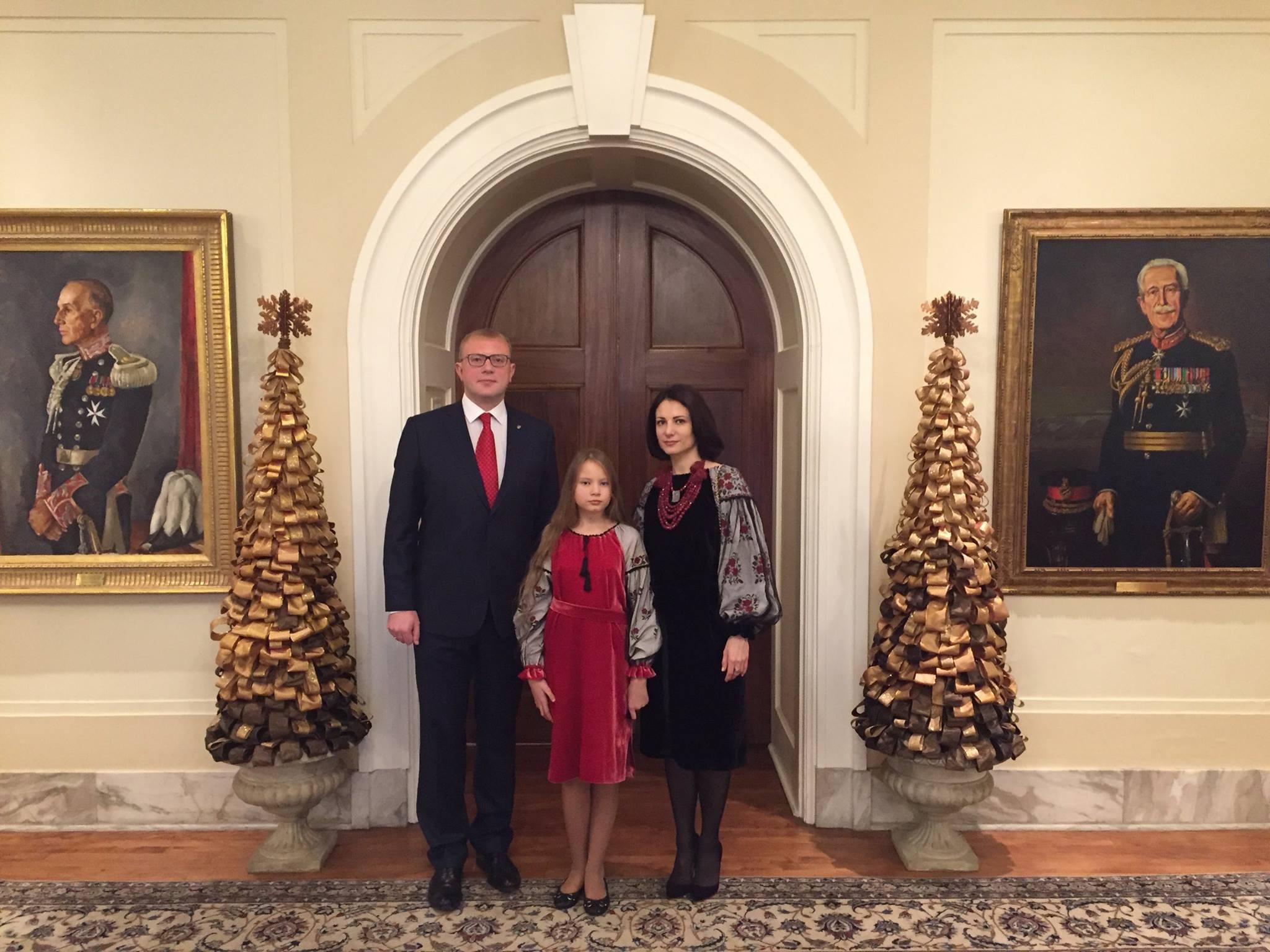 Посол України в Канаді Андрій Шевченко з родиною