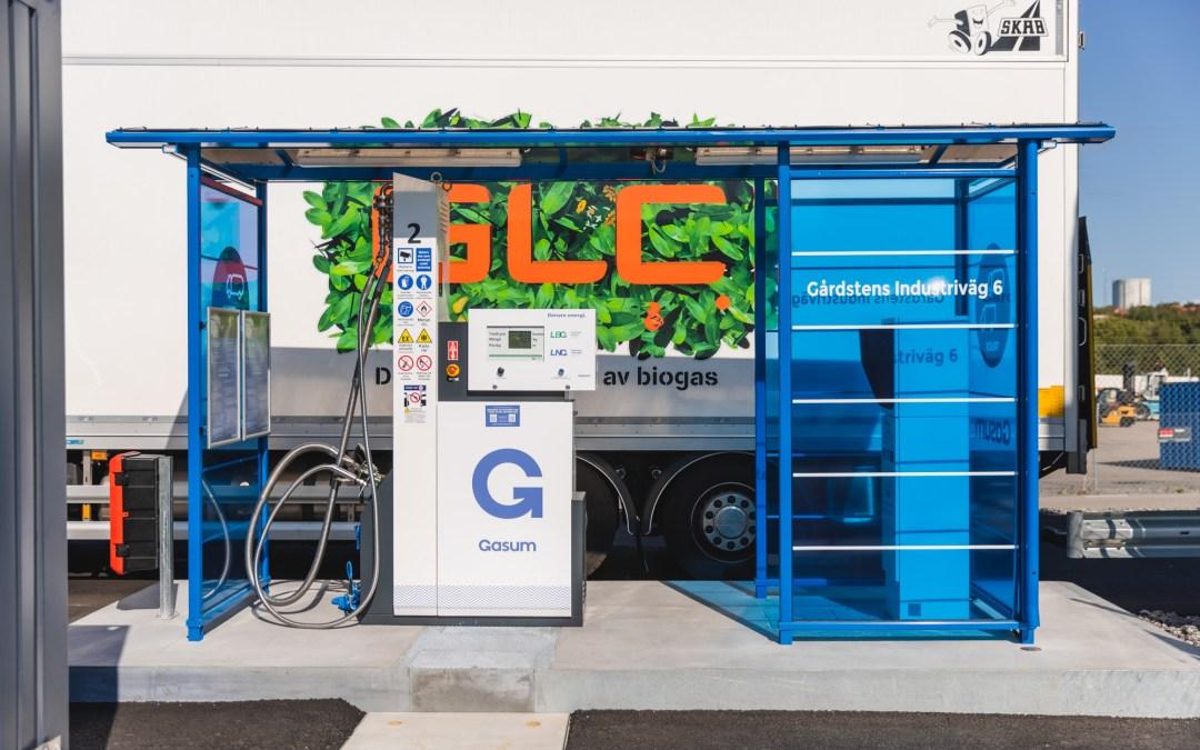 Idag invigde vi vår nya gasstation