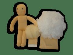 Babacsomag szilikonizált műszál töltőanyaggal, 38 cm-es babához.
