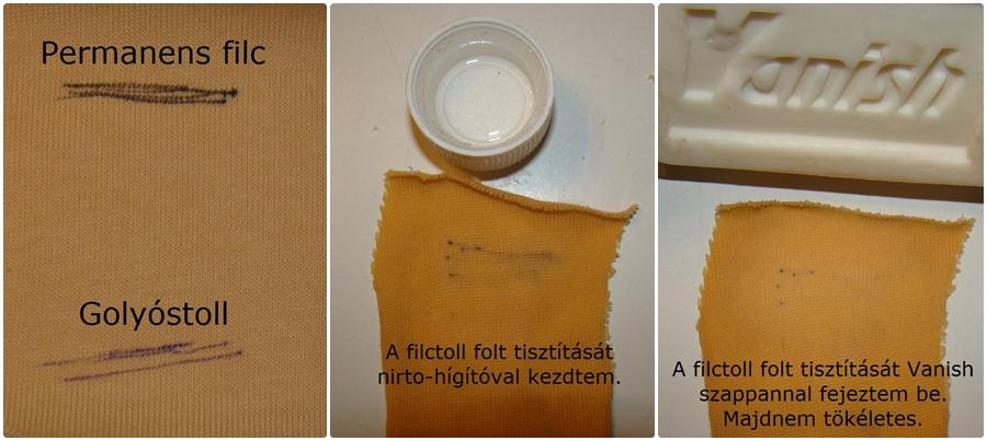 filctoll folt tisztítása