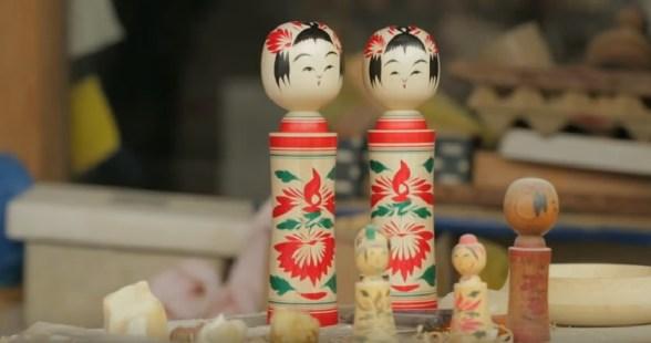 Yasuo Okazaki esztergált fababái Japánból