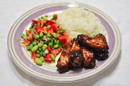 Baked Asian Wings with Edamame Salad