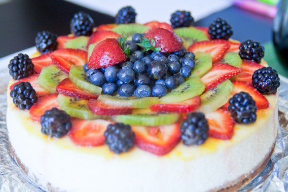 Creamy Cheesecake with Real Fruit Toppings